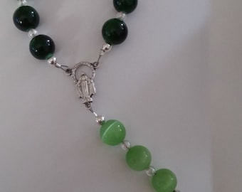 Green Glass Bead Chaplet