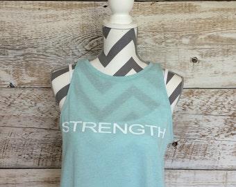 Custom Handcrafted Shirt for Women | STRENGTH Top | #PRAYMOHR® Designs | Faith Inspired Tee | Customizable Shirt for Women | Personalization