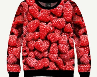 Raspberry, Red Berry - Men's Women's Sweatshirt | Sweater - XS, S, M, L, XL, 2XL, 3XL, 4XL, 5XL