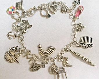 Incredible silver hallmarked charm bracelet vintage