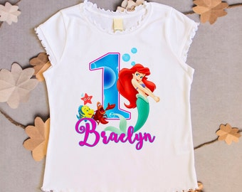 Little Mermaid Birthday Shirt - Ariel Shirt