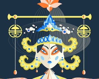 Wu Zetian of China • Graphic Art • Illustration • Historical Portrait • Empress • DesignedByShea