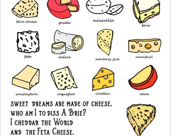 Sweet Dreams Are Made Of Cheese  all purpose Card