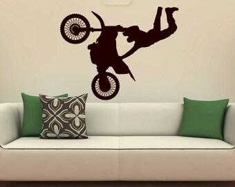 Motocross Sticker, Dirt Bike Wall Decal