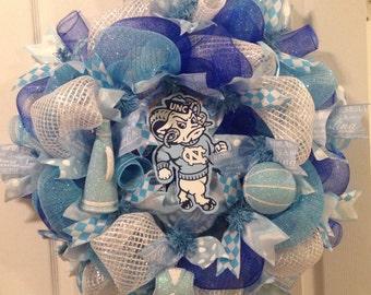 UNC Tarheels wreath