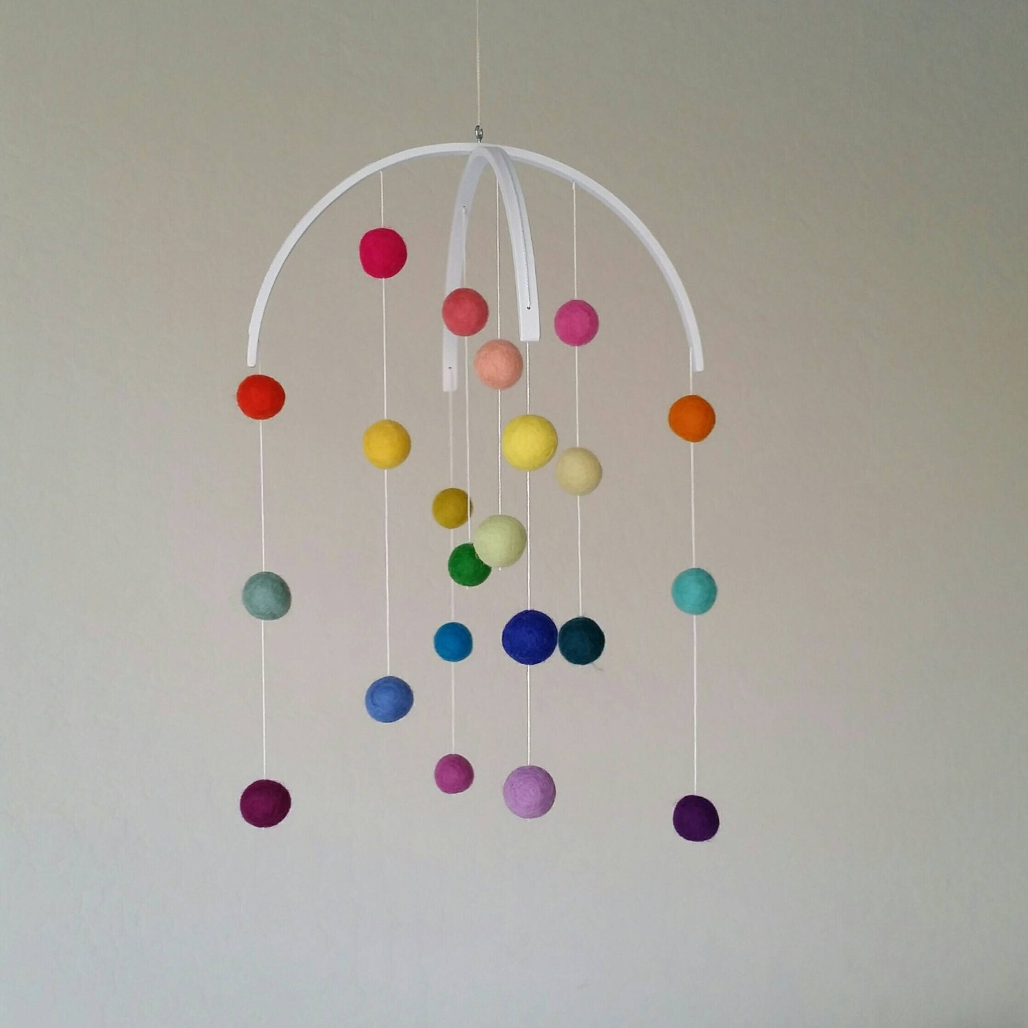 Baby Mobile Rainbow Baby Mobile Felt Poms Only