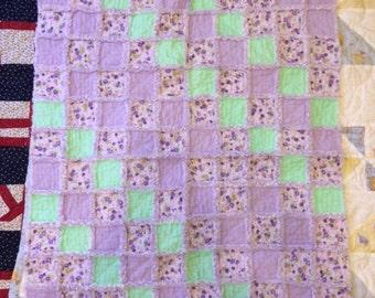 Purple Rag Quilt