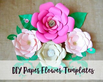 Wedding Giant Paper Flower Backdrop- Flower Templates and Tutorial