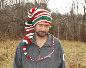 Sale Prices! Christmas Elf Hat. Stocking Cap