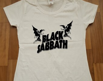 Black Sabbath   Women T-shirt  Heavy Metal  Women Tshirt 1D Black Sabbath Shirt Logo 1