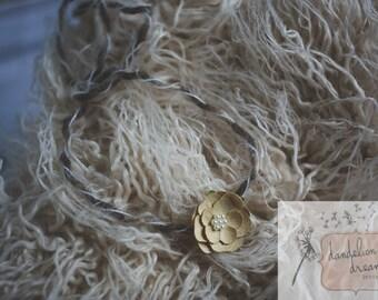 Floral Newborn Tieback-RTS-Vintage Inspired-Photography Prop-Newborn Headband