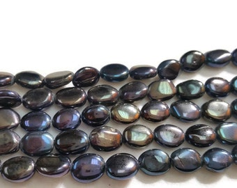 Black Spinel Smooth Oval Mystic , Oval size 6x8mm