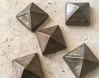 Bronze Mosaic Tiles, 1 pc, Hand Cast Solid Bronze, Mosaic Dots, Accent Tiles,