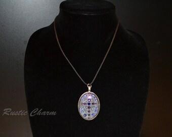 Rustic Violet Swarovski Crystal Cross