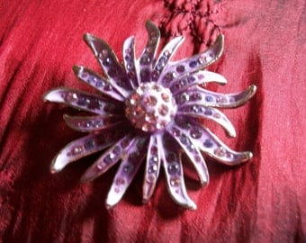 Lavender Stones in Gorgeous Brooch
