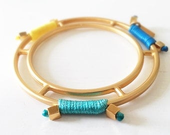 Aqua, Blue and Yellow Bangle