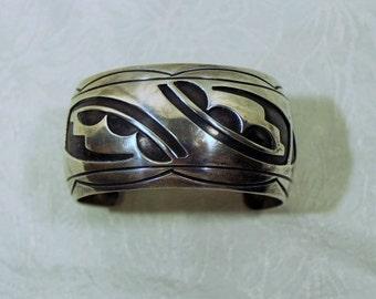 Vintage Silver Cuff Bracelet (unmarked)