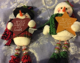 Christmas ornaments set of two