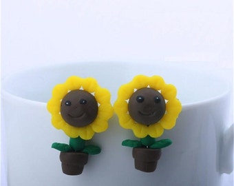 Sunflower earrings (1 pair)