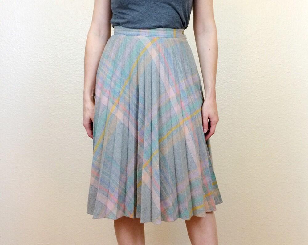80s pastel pleated skirt grey skirt accordion pleated