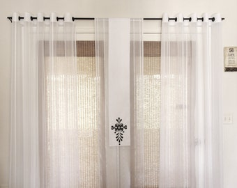 Sheer curtains, Curtains sheers, Curtains and draperies, Custom curtains, Curtain panels,  Window treatment Sheers, Window curtains