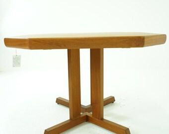 D127 SALE! Danish Mid Century Modern Teak Dining Table with Leaves