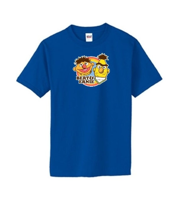 Sesame Street Bert and Ernie T-shirt - Brand New Custom T-shirt - Made to order! Awesome Retro Feel!