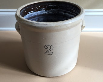 Antique Stoneware 2 Gallon Crock