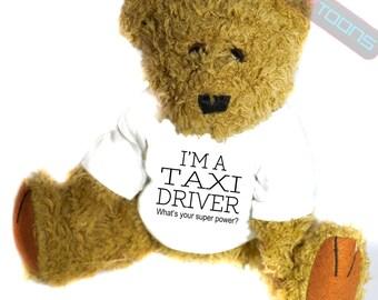 Taxi Driver Novelty Gift Teddy Bear