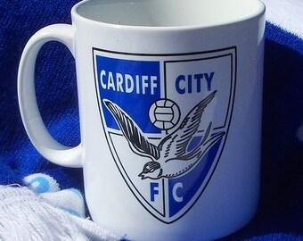 Cardiff City FC retro 60's mug