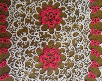 Handmade Tatted Lace Doily