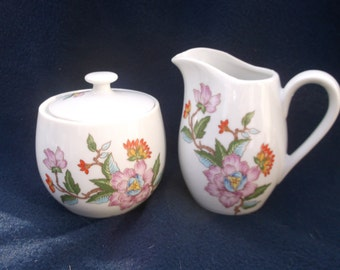 Vintage Le Jardin-Dolphin Sugar bowl and Creamer set