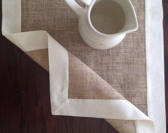 Burlap table top