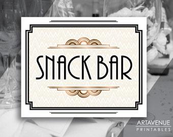 Snack bar banner | Etsy