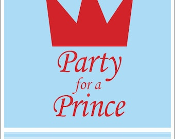 Party for a Prince - Printable Invitation