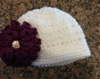 Toddler Hat with Flower