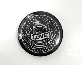 LOVE BEER - beer 25mm button pin