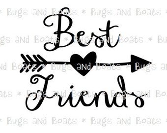Best Friends SVG and DXF files