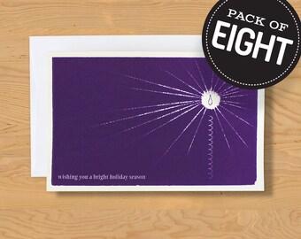 """Box of 8 """"Bright Holidays"""" Holiday Card A9"""