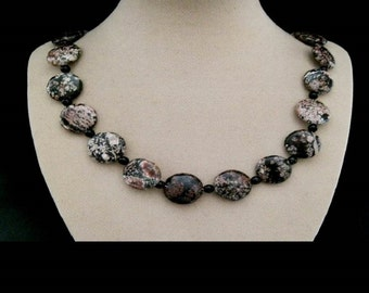 Ocean of Jasper, marbled, stones, beads, necklace, necklace, chain