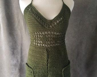 Crochet Romper Jumper / Crochet Jumpsuit