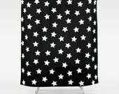 Shower Curtain - Star Shower Curtain - Kids Shower Curtain - Black and White Shower Curtain - Modern Shower Curtain - Modern Kids Decor