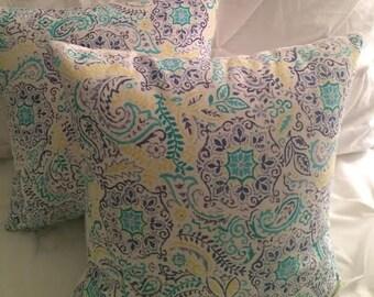 Multi Color flower pillows