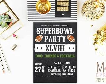 Super Bowl Invitation 4,Super Bowl Party Invitation, Super Bowl Invitation, Football Party, Super Bowl Party, Superbowl Invitation
