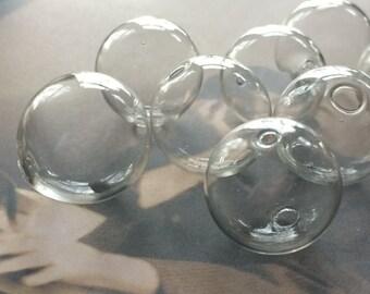 50 vintage blown glass beads