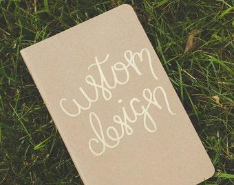 Custom Mettalic Embossed Moleskine Kraft Journal, Wedding Vows, Gold Embossed Journal,Prayer Book