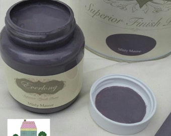 Everlong Chalk Paint Shabby Chic Furniture Misty Mauve 100ml Tester