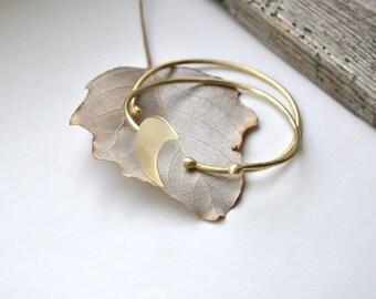 Brass cuff bracelet set Moon and stars bracelet Stacking bracelet set Set of bracelets Moon jewelry Boho bracelet Boho bangle Boho jewelry