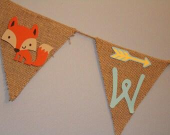 Wild One woodland animal banner