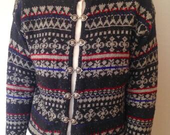 80s-90s cardigan sweater - Grandma Sweater - Old lady sweater - librarian sweater - vintage cardigan sweater